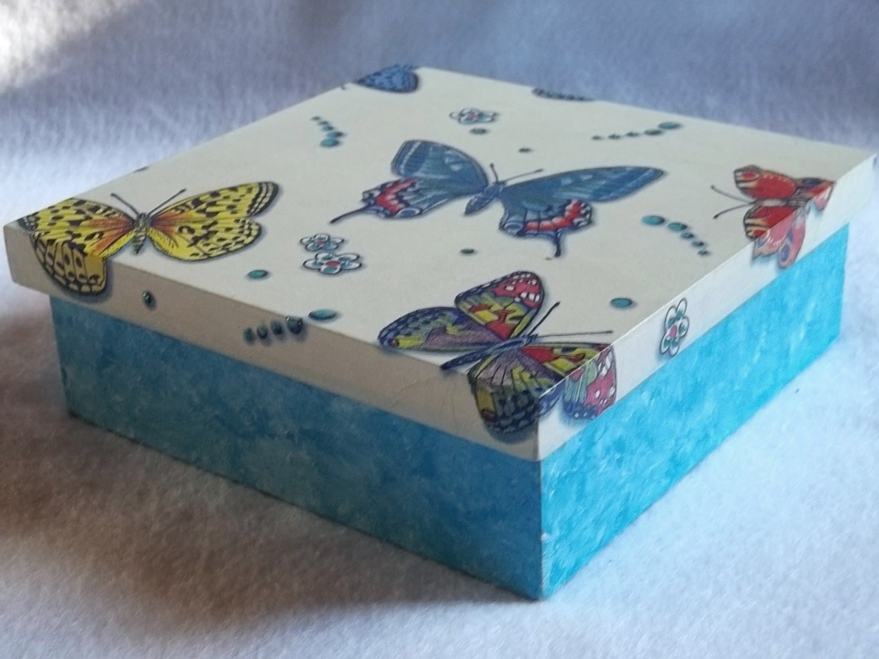 Caixa Kit em Mdf – Azul com Branco « .::Vini e Kika.::.Blog Arte e  #1490B7 1280x960
